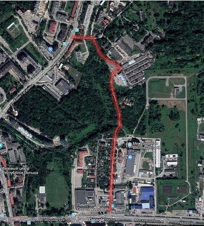 Калининград: власти города ищут подрядчика для реконструкции ул. Дачной